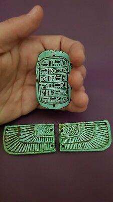 ANCIENT EGYPTIAN ANTIQUE WINGED Scarab AMULET Figurine Rare Egypt Stone BC