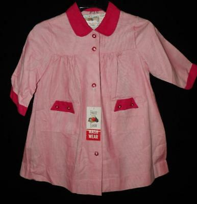 NEW OLD NWT FRUIT LOOM LOUNGE VTG 60s GIRLS PINK FLANNEL HOUSE BATH ROBE COAT 6X