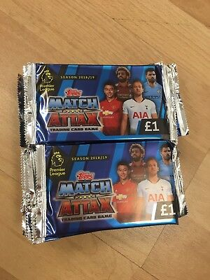 TOPPS MATCH ATTAX TRADING CARD GAME PREMIER LEAGUE 2018/2019 50 Packs RRP £50.00
