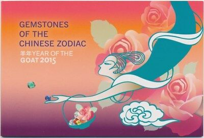 Mint 2015 Gemstones Chinese Zodiac Year Of The Goat Prestige Stamp Booklet