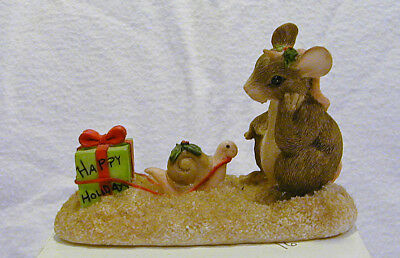 Charming Tails WAITING FOR CHRISTMAS Numbered Limited Ed Sold Out 96 With Box