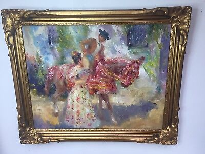 Original Oil Painting By Listed London Artist John Strevens 1902-1990 Framed