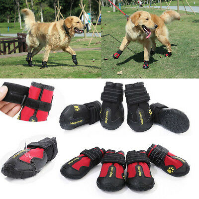 Reflective Dog Shoes for Large Dogs Waterproof Anti-slip Rubber Rain Snow Boots