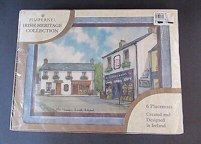 "6 Lot Pimpernel Irish Heritage Collection Placemats New in Box 12"" x 9"""