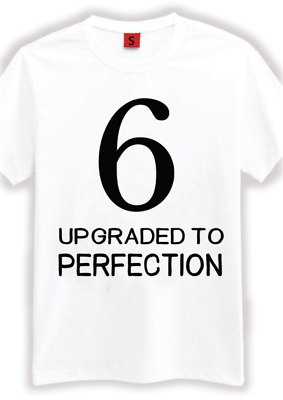 6 Aged Perfection T Shirt 6th Birthday Gifts