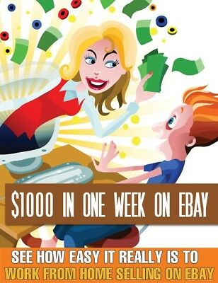 PDF $1000 In A Week On eBay ebook + Free Shipping + Master Resell Rights