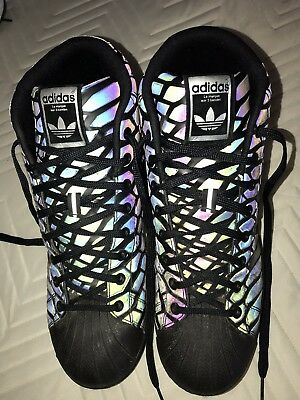 d451b45b978ea Adidas Xeno Pro Model Mens Size US 11 Reflective Sneakers Q16534 Snakeskin