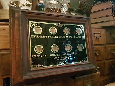 Antique Victorian Butlers Servants Call Bell Box private gentleman's club 🎩🍸