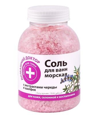 Bath sea SALT with Bidens tripartita and Sage Antiseptic 1000g Home Doctor 7904