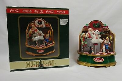 Vintage 1994 Coca Cola Brand Musical Collection Santa's Soda Fountain