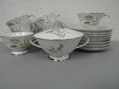 Lot of (48) Golden Harvest Fine China Japan Cups and saucers, bowls and plates