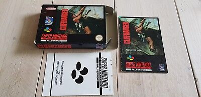 * Super Nintendo * Cliffhanger * PAL UKV Box and Manual ONLY! * SNES *