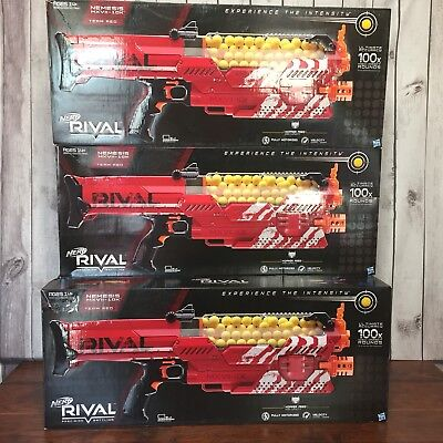 New Nerf Rival Nemesis MXVII-10 Team Red 100x High Impact Rounds