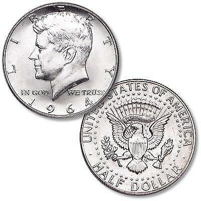 "1964 D KENNEDY PROOF 90% SILVER  HALF DOLLAR ""Brilliant Uncirculated"""