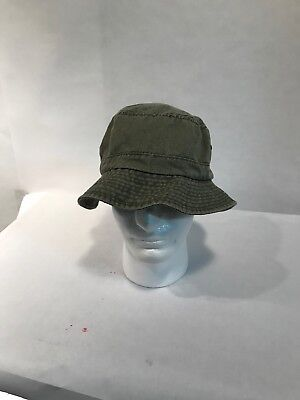 3e8af9d0047 Dorfman Pacific Cotton Stone Washed Green Summer Bucket Hat - L  XL