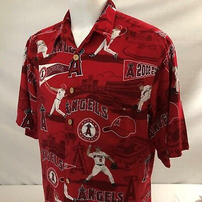 Reyn Spooner MLB Baseball Anaheim Angels Hawaiian Shirt Large 2002 World  Series 9f3a0ad8b