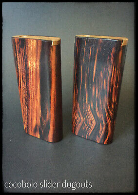 Cocobolo Wood Dugout with One Hitter Bat