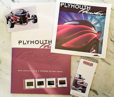 REDUCED RARE Plymouth Prowler Hot Rod Brochures Photos + 13 Tri-Fold Brochure