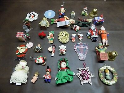 Vintage Hallmark Christmas Ornament Lot Santa Rocking Horse Soldier Mouse Series