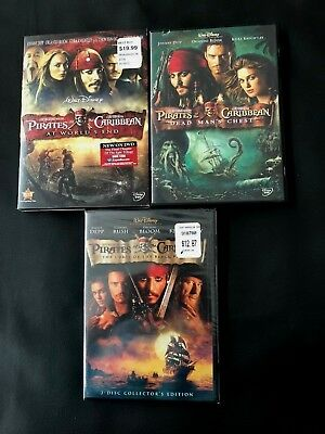 Walt Disney Pirates of Caribbean Dead Man's Chest, The Curse of the Black Pearl,