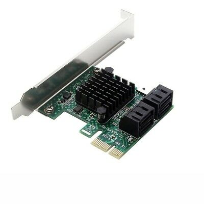3X(PCIe PCI Express to 6G SATA3.0 4-Port SATA III Expansion Controller Card K0B7