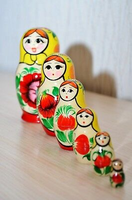 Matryoshka Russian Nested doll  Souvenir Traditional Russian Toy 6 subjects