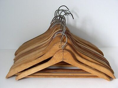 Vintage Wood Clothes Hanger Coat Pants Suit 6 Have Minor Flaws Lot Of 15