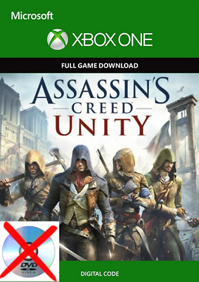 Assassin's Creed: Unity XBOX ONE Digital Code (read description no cd / dvd)