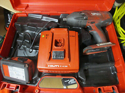 HILTI SIW 18T-A IMPACT WRENCH with battery and charger in case