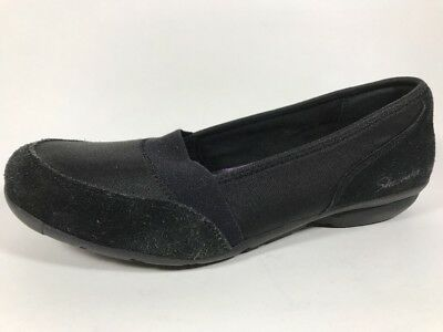 c315d08cd34 Skechers Career Relaxed Fit Black Leather Loafers Womens Size 7.5 Memory  Foam