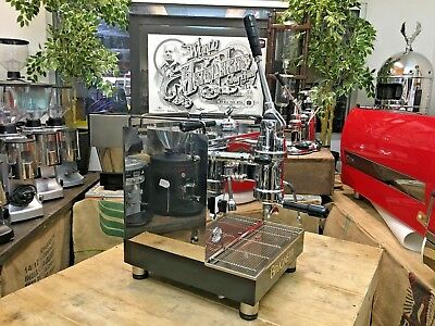 Brugnetti Delta Lever 1 Group Stainless Espresso Coffee Machine Cafe Cart Barist