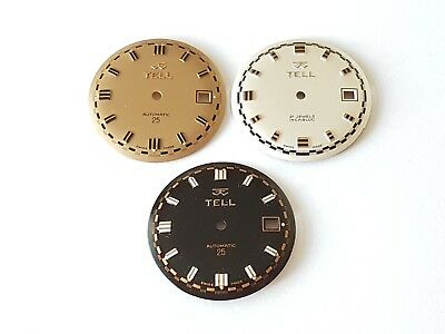 ETA 2472 Watch Dials Selection TELL Swiss Made 29.50mm