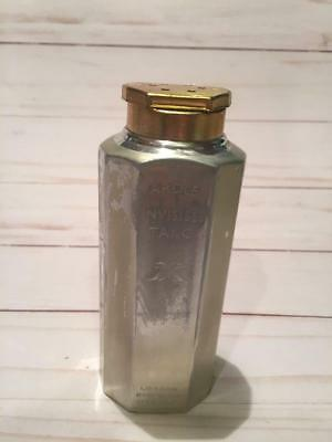 Vintage Yardley Of London Invisible Talc Metal Silver Gold Shaker Full Bottle