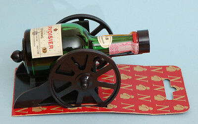 Miniature Courvoisier COGNAC Liquor CANNON Holder Display with Bottle