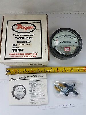 Dwyer 2000-750-Pa Magnehelic Differential Pressure Gage Gauge 100kPa - New