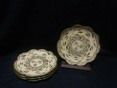 Lot Of 14 Dish Set Old World Green Dishes Very Nice Condition Mugs Plates Bowls