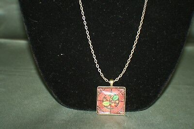 Celtic Bronze Square Nature Art Pendant - Celtic Circle