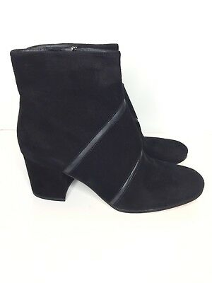 b668bf6b74df Via Spiga NEW Sz 10.5 Black Suede Ankle Boot