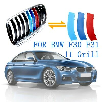 Front Grille M 3 Color Cover Decal Buckle Sticker For BMW 3 Series F30 F31 13-17