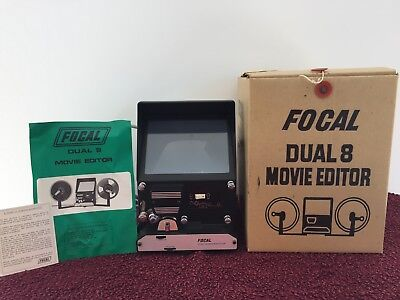 Vintage Focal Dual 8 Movie Editor with books