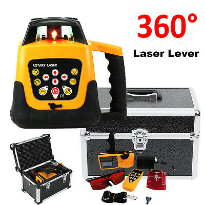 Automatic Self-Leveling Horizontal & Vertical Rotary Laser Level kit 500M w/Case