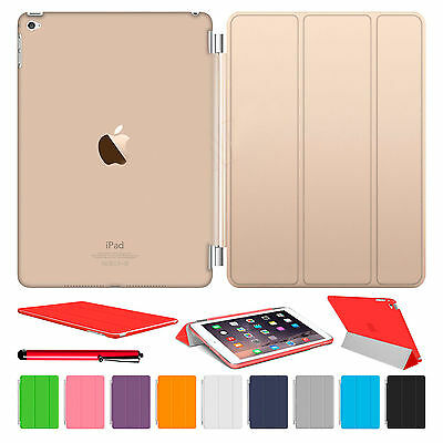 Magnetic Leather Smart Cover Hard Back Case For Apple iPad Air 2 3 4 5 6 mini AU