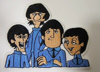 The BEATLES  - Cartoon TV Series - Embroidered Iron-On Patch - 3 1/4""