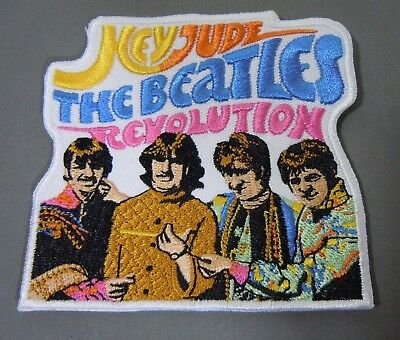 "The BEATLES Hey Jude-Revolution-Embroidered Iron-On Patch - 3.5""  NEW"