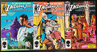 Indiana Jones and the Temple of Doom #1-3 Complete Set (1984, Marvel) 2 VF/NM