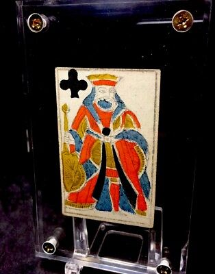 Historic Museum Quality Antique Poker Playing Cards Ancient French Court Single