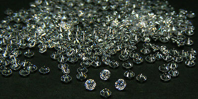 10 Pcs. 4.0 Mm. Europe Machine Cut White Cubic Zirconia  Cz