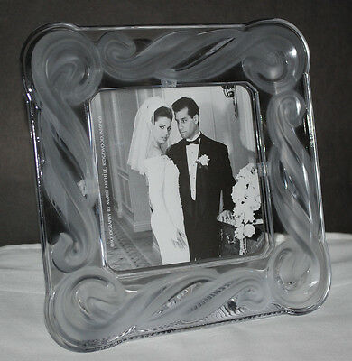 Fifth Avenue 3 Picture Frame Floral Crystal Glass Memories 14 X