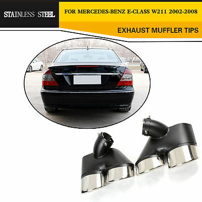 Stainless Steel Exhaust Muffler Tips Tailpipes Kits for Mercedes Benz W211 02-08