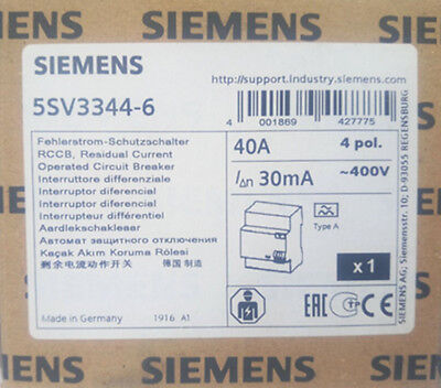 **  1PC  NEW   SIEMENS   5SV3344-6  40A   free shipping